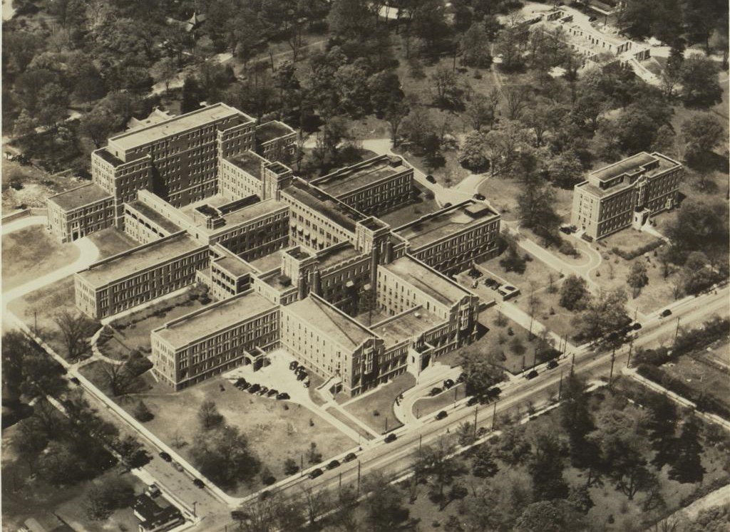 Aerial view of Vanderbilt Medical Center Campus, ca. 1938